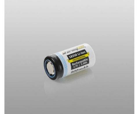 Armytek 18350 Battery Li-ion 900mAh, Without PCB, Rechargeable