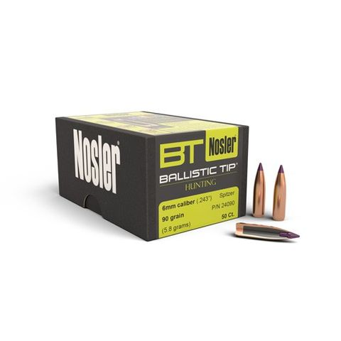 Nosler 6mm 90 gr Ballistic Tip ( 50 )