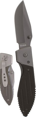 KA-BAR WARTHOG FOLDER III, GRAY CLIP, STR EDGE