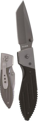 KA-BAR WARTHOG TANTO FOLDER III, GRAY CLIP, STR EDGE