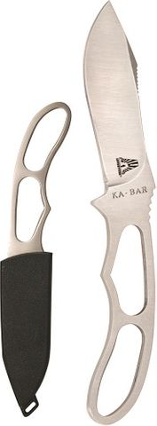 KA-BAR ADVENTURE PIGGYBACK-SILVER,  HARD SHTH, STR