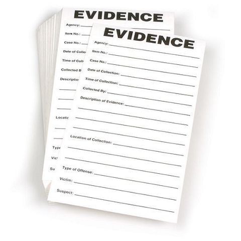 "FORENSIC SOURCE EVIDENCE LABEL 3.5""X6.5"" (100)"