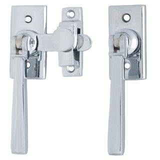 FRENCH DOOR FASTENERS CHROME PLATE