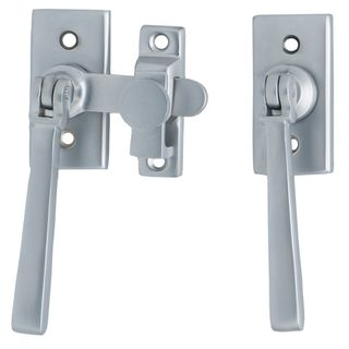 FRENCH DOOR FASTENERS SATIN CHROME