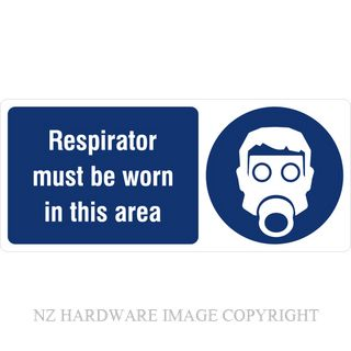DENEEFE BA3 RESPIRATOR MUST BE WORN IN THIS AREA PVC