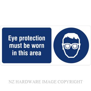 DENEEFE BA5 EYE PROTECTION MUST BE WORN IN THIS AREA PVC
