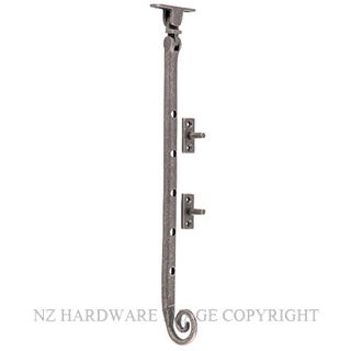 TRADCO 9830 CASEMENT STAY M/TAIL RUMBLED NICKEL
