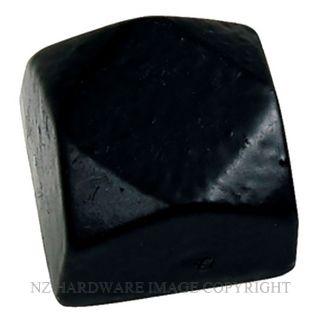 ELEMENTS HARDWARE 2029 BLACK IRON - SMALL DOOR STUD 20 X 20MM BLACK
