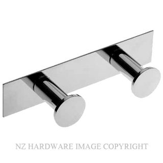 COSMIC 2050122 DOUBLE BATHROOM HOOK CHROME PLATE