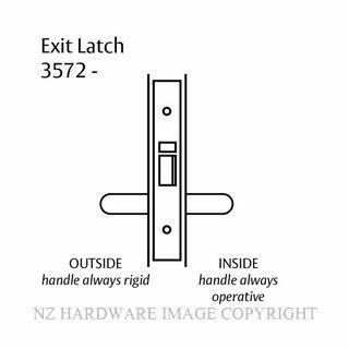 LOCKWOOD 3572- EXIT LATCH 60MM SATIN CHROME