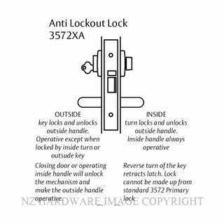 LOCKWOOD 3572XA ANTI LOCKOUT LOCK 60MM SATIN CHROME