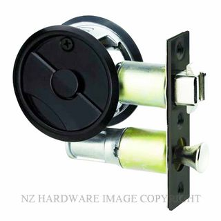 LOCKWOOD 7400MBKDP CAVITY SLIDER PRIVACY SET MATT BLACK