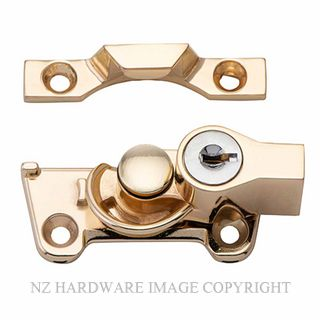 TRADCO 20310 SASH FASTENER LOCKING WIDE BASE ELECTROPLATED BRASS