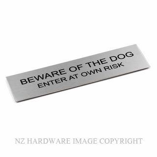 JAECO SIGN 170X50 DOGB BEWARE OF THE DOG - BLACK