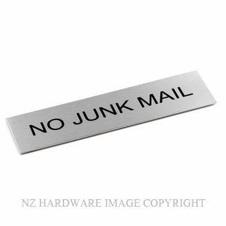 JAECO SIGN 170X50 NOJUNK NO JUNK MAIL
