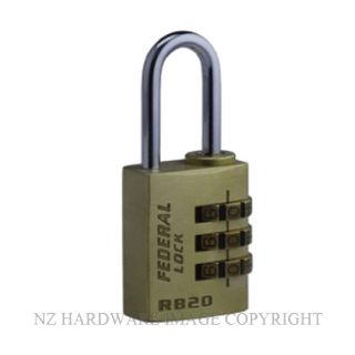 GTRB20 FEDERAL COMBINATION PADLOCK 20MM