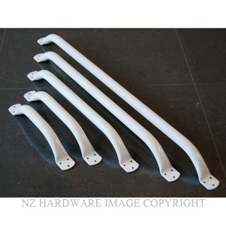 SUPERQUIP SAFETY STRAIGHT GRAB RAILS 25MM WHITE
