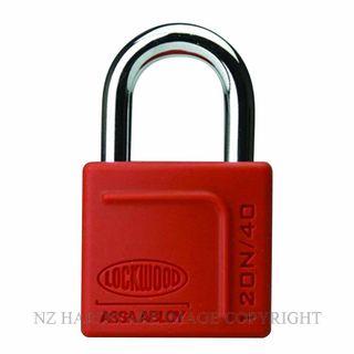Lockwood 120N 40 Series Padlocks Series Red