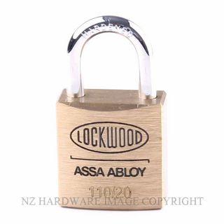 Lockwood 110 20 Series Padlocks Brass