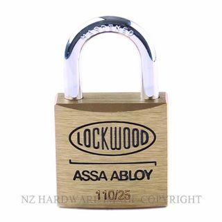 Lockwood 110 25 Series Padlocks Brass