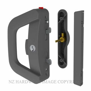 YALE AL911310B ALBANY ENDEAVOUR DOUBLE KEYED SLIDING DOOR LOCK MATT BLACK