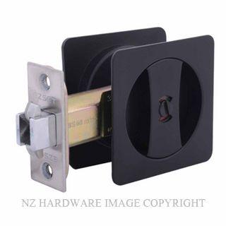 EZSET EZ602SQBLK CAVITY SLIDER PRIVACY KIT SQUARE SATIN MATT BLACK