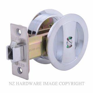 EZSET EZ602RNDSC CAVITY SLIDER PRIVACY KIT ROUND SATIN CHROME