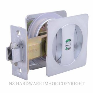 EZSET EZ602SQSC CAVITY SLIDER PRIVACY KIT SQUARE SATIN CHROME