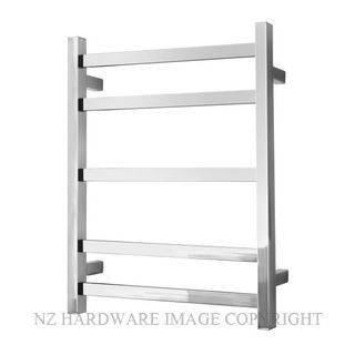 ALEXANDER ELAN 8A01 5 BAR HEATED TOWEL LADDER STAINLESS STEEL