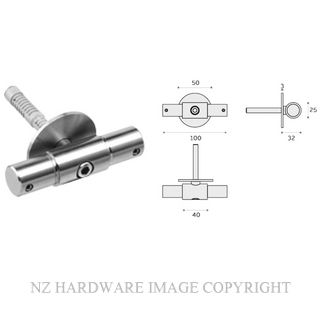 JNFIN15011 WALL CONECTOR AND SUPPORT 25MM