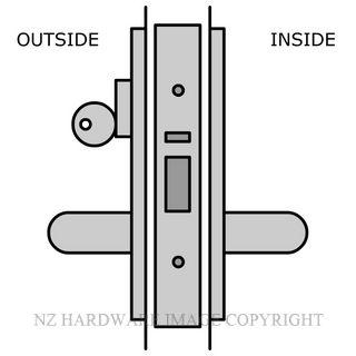 LEGGE ALUMINIUM DOOR STOREROOM LOCK 38MM LOCK & HANDLE KITSET