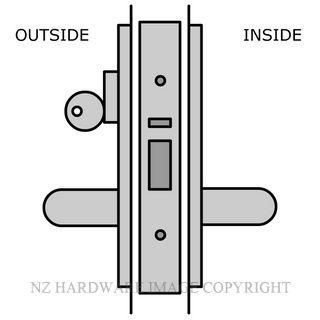 LEGGE TIMBER DOOR CLASSROOM LOCK 60MM LOCK & HANDLE KITSET