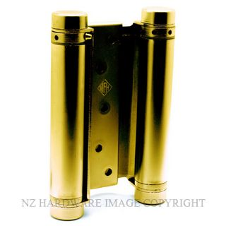 HFH 4150 155 DOUBLE ACTION HINGE PAIR 150MM POLISHED BRASS