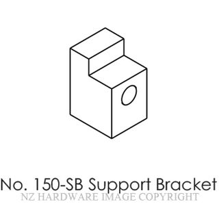 BRIO 150-SB SUPPORT BRACKET SATIN STAINLESS