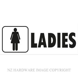 MARKIT GRAPHICS BS706 LADIES SIGN 330X130MM BLACK ON WHITE