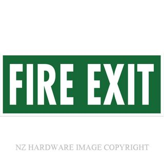 MARKIT GRAPHICS BS702 FIRE EXIT SIGN 330X130MM WHITE ON GREEN