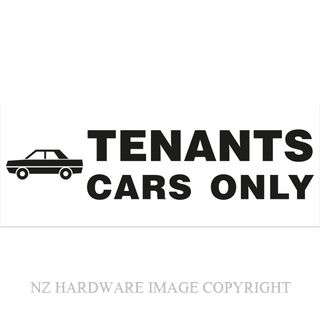 MARKIT GRAPHICS BS725 TENANTS CARS ONLY 330X130MM BLACK ON WHITE