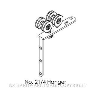 BRIO 21/4HN HNGR 75KG-FLDNG 4 WHL CRN FIX