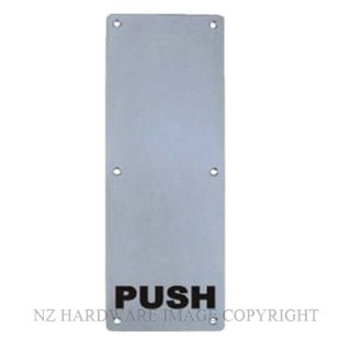 MILES NELSON 502 PUSH PLATE ENGRAVED PUSH SSS STAINLESS STEEL
