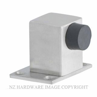 MILES NELSON 602 DOORSTOP SQUARE FLOOR MNT 35MM STAINLESS STEEL