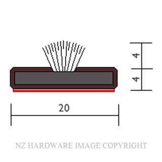 RAVEN RP2004S FIRE-SMOKE SEAL 2100 BROWN