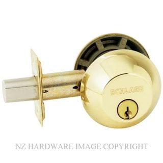 SCHLAGE B62N DEADBOLT DOUBLE KEY POLISHED BRASS