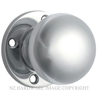 TRADCO 0697 MORTICE KNOB SET SUITS 54MM HOLE CHROME PLATE