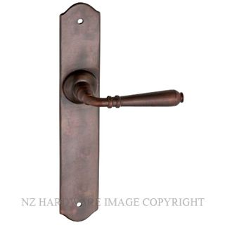 TRADCO 0774 REIMS LEVER LATCH ANTIQUE BRASS