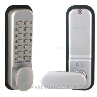 BORG BL2201SC DIGITAL LOCK HOLD BACK SATIN CHROME