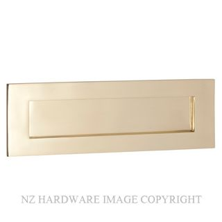 TRADCO 1351 LETTER PLATE 300X100MM POLISHED BRASS