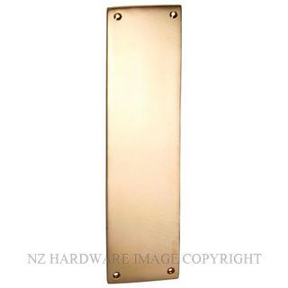 TRADCO 1286 FINGER PLATE 240 X 60MM POLISHED BRASS