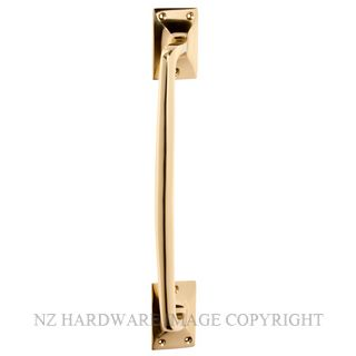 TRADCO 1454 PB PULL HANDLE 305MM POLISHED BRASS