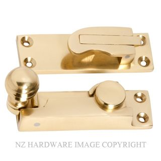TRADCO 1605 SASH FASTENER REEDED BALL POLISHED BRASS