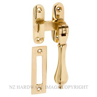 TRADCO 1731 CASEMENT FASTENER LONG THROW POLISHED BRASS